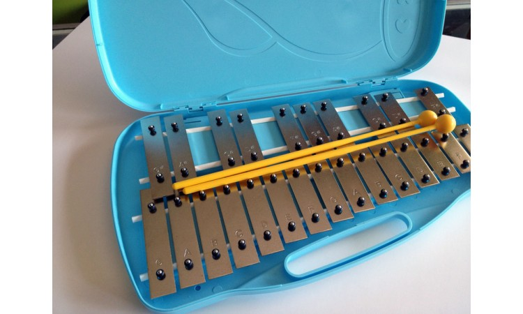 25 Note Chromatic Xylophone Bell Set w/ Case